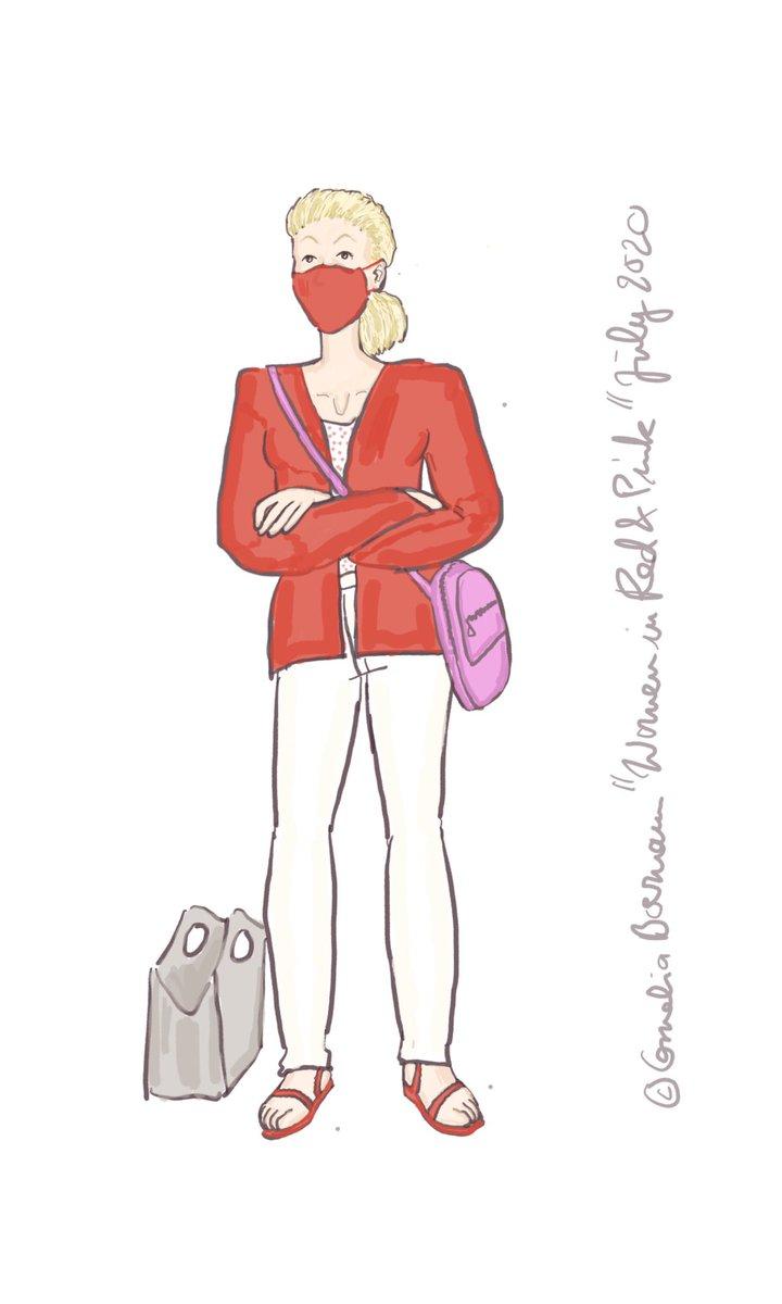 Die Frau in #rot & #pink heute Morgen an der Bahn. Da sah alles #frisch aus. Und #toninton geh, wie man sieht.  Außerdem sind Rot und #weiß Cheffarben von sehr dominanten Persönlichkeiten. Dies ist also eine Führungsperson ... für heute!  #trainpeople  #businessoutfit #DIEZEITpic.twitter.com/VRLM10WvM4