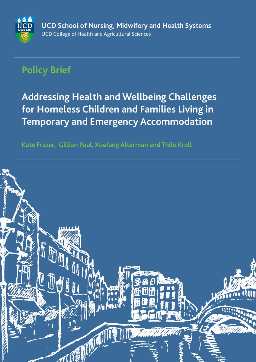 New UCD report on #homeless families highlights need for child-friendly, safe accommodation & family support to navigate health, housing & social care systems https://t.co/GIRzJEP3Ok @KateF224 @2011thilo @DeptDCY @UCD_CHAS @OCO_ireland @roinnslainte @UCDDublin #PPI_IGNITE https://t.co/n7W5I2C1Yt