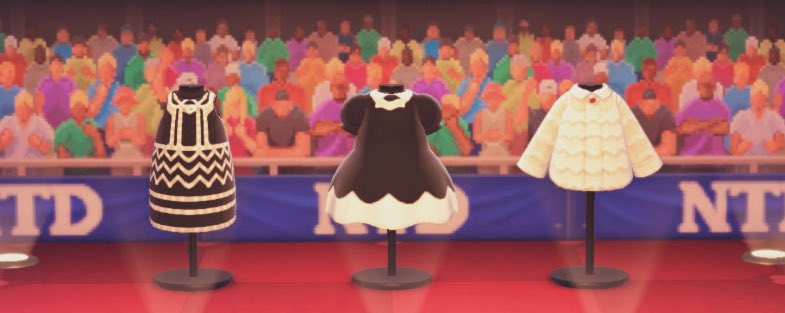 念願のレッドカーペットでキラキラしてたPerfumeさんのお衣装作りましたぁ🥰🌟これにてマイデザ枠いっぱいになってしまった…🙄ひょぇ…#Perfume #prfm #あつ森 #どうぶつの森 #ACNH #マイデザイン #かしゆか #あ〜ちゃん #のっち