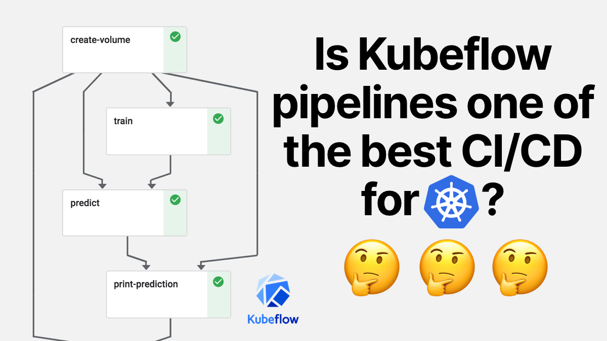 THREAD: Is it possible that Kubeflow pipeline is one of the best CI/CD tools for Kubernetes? I spent some time playing with Kubernetes & @kubeflow pipelines, and they have one feature which is just great: You can define the pipeline with real code!
