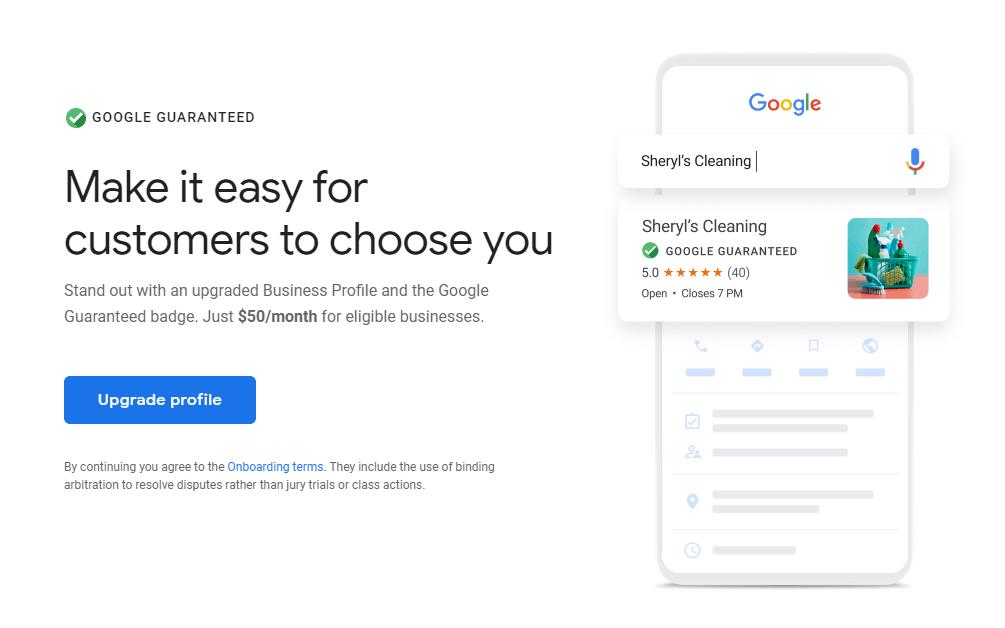 הצעת חשבון הפרימיום של גוגל מיי ביזנס