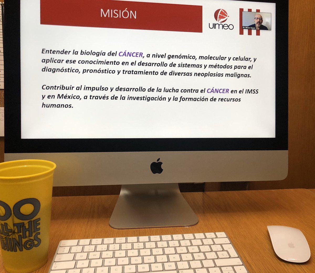 """#FelizMiércoles ¡PRESENTE! #Seminario de la """"Unidad de #Investigación en #Enfermedades #Oncológicas""""   tema: """"La vía adenosinérgica, un mecanismo de regulación crítico en el desarrollo del #cáncer #cervicouterino""""   Tu amigo #Rafa #Balcázar #Narro #Tlalnepantla #EdoMéx https://t.co/nUroOa7rR0"""