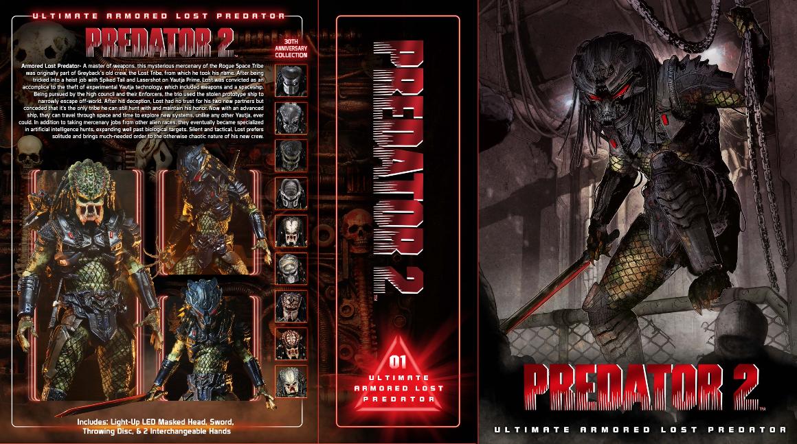 PREDATOR 2 Ultimate Armored Lost Predator NECA NEW IN HAND 30th Anniversary