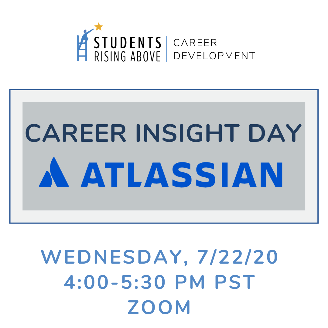 Today's Virtual #SRACareerInsightDay is with our partners at @Atlassian!  Atlassian's mission is to help #unleashthepotential of every team through open work. SRA Students, get excited to learn more about Atlassian today on Zoom! https://t.co/gSdo11cJ1Z