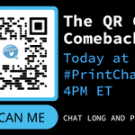 Image for the Tweet beginning: #QR + Print = Opportunity.