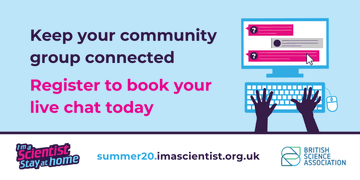 The @imascientist's I'm a Scientist, Stay at home free online #STEM course allows your children to talk and ask questions to real life scientists. Click the link to find out more: https://t.co/disNBs7Tu0 #IASStayAtHome https://t.co/qOogWnc5mW
