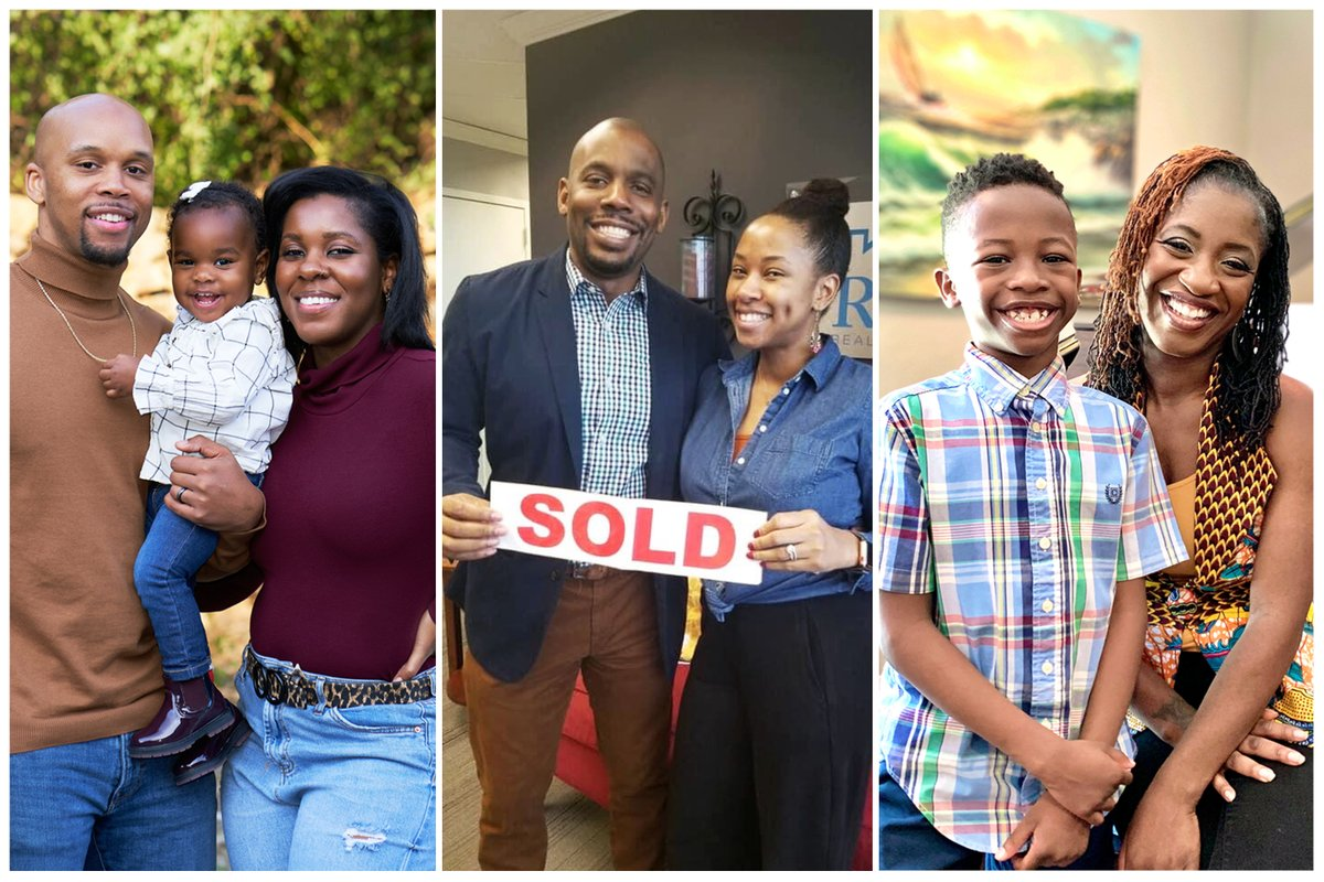 Years of discrimination mean fewer than half of Black households own homes. I spoke to three families about how they beat they odds 1/: https://t.co/6mxXAXk3VF https://t.co/QLFCvloEw5