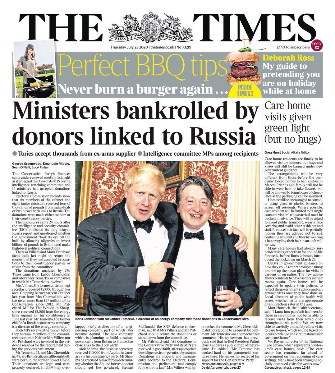 Sadly, nor is this government. We're in for 5 years of kleptocracy. These are the lessons (and the donations) Boris seems to have taken from his Russian friends.