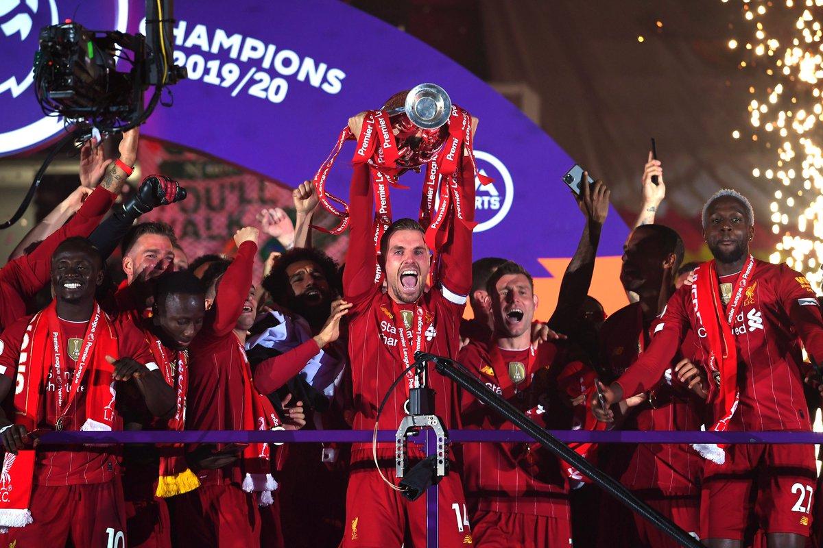 Liverpool Football Club.   Premier League champions. https://t.co/UWlxqtRiLu