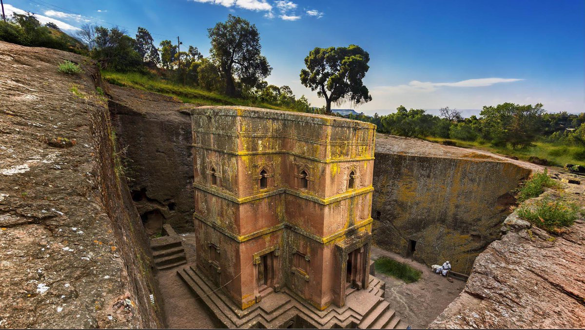 800-year-old church in Ethiopia carved from a single stone