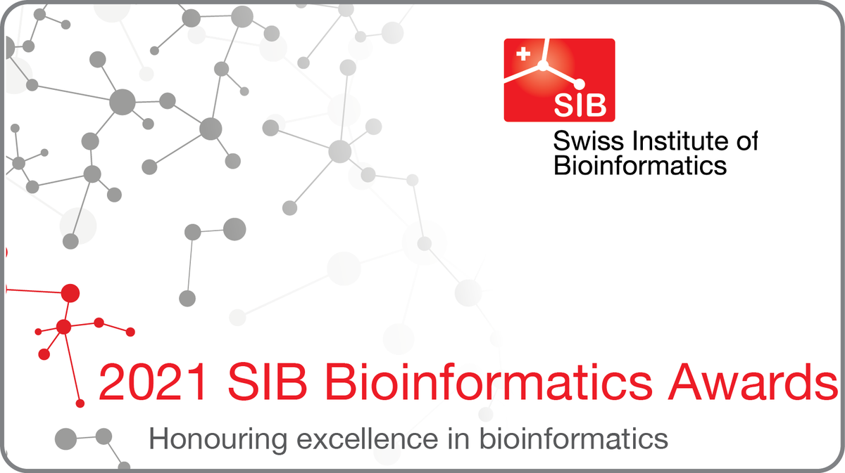 #SIBAwards are back in 2021 in three categories: #EarlyCareer #Bioinformatician / Best #Swiss #Bioinformatics Graduate Paper / Bioinformatics Resource Innovation. The call for entries will be announced later this year. Register to get updates at https://t.co/VTDIXQ6gnz https://t.co/18O3mvp5ir