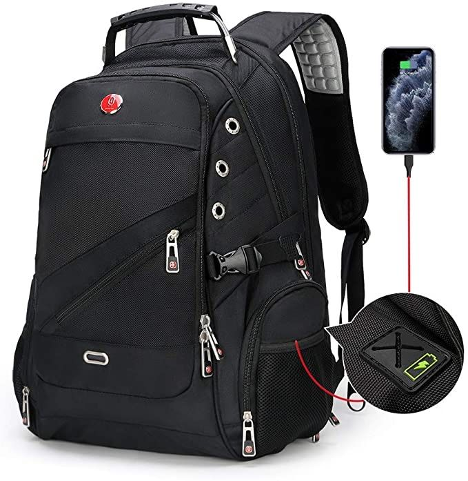 Waterproof Laptop Backpack w/ USB Charging Port,  just $16.76 w/ code RSTDNBFE @ checkout