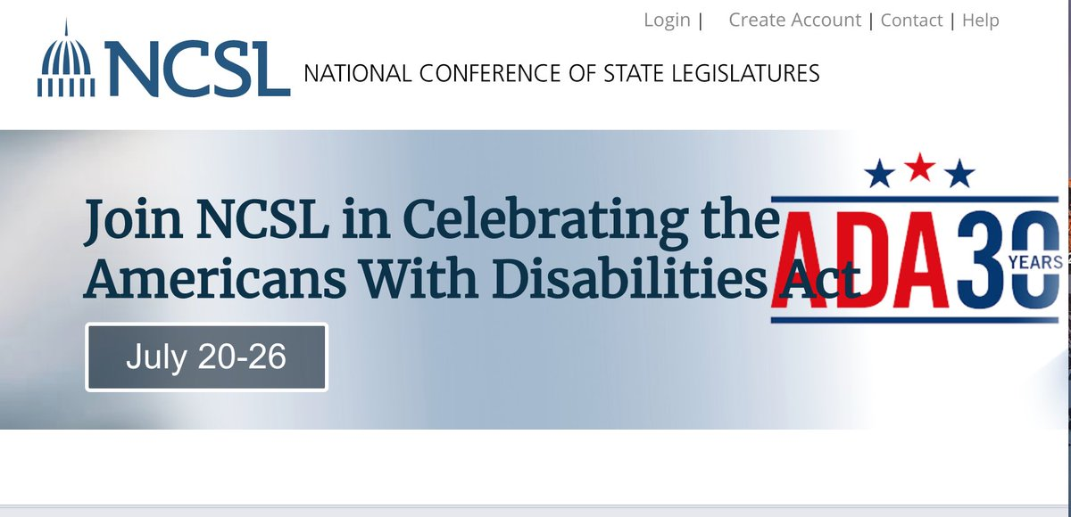 TY to @NCSLorg for inviting me to address the unfinished work of the Americans with Disabilities Act (ADA) - and the unique strategies that states can employ to advance disability justice. #ADA30 ncsl.org/research/labor…