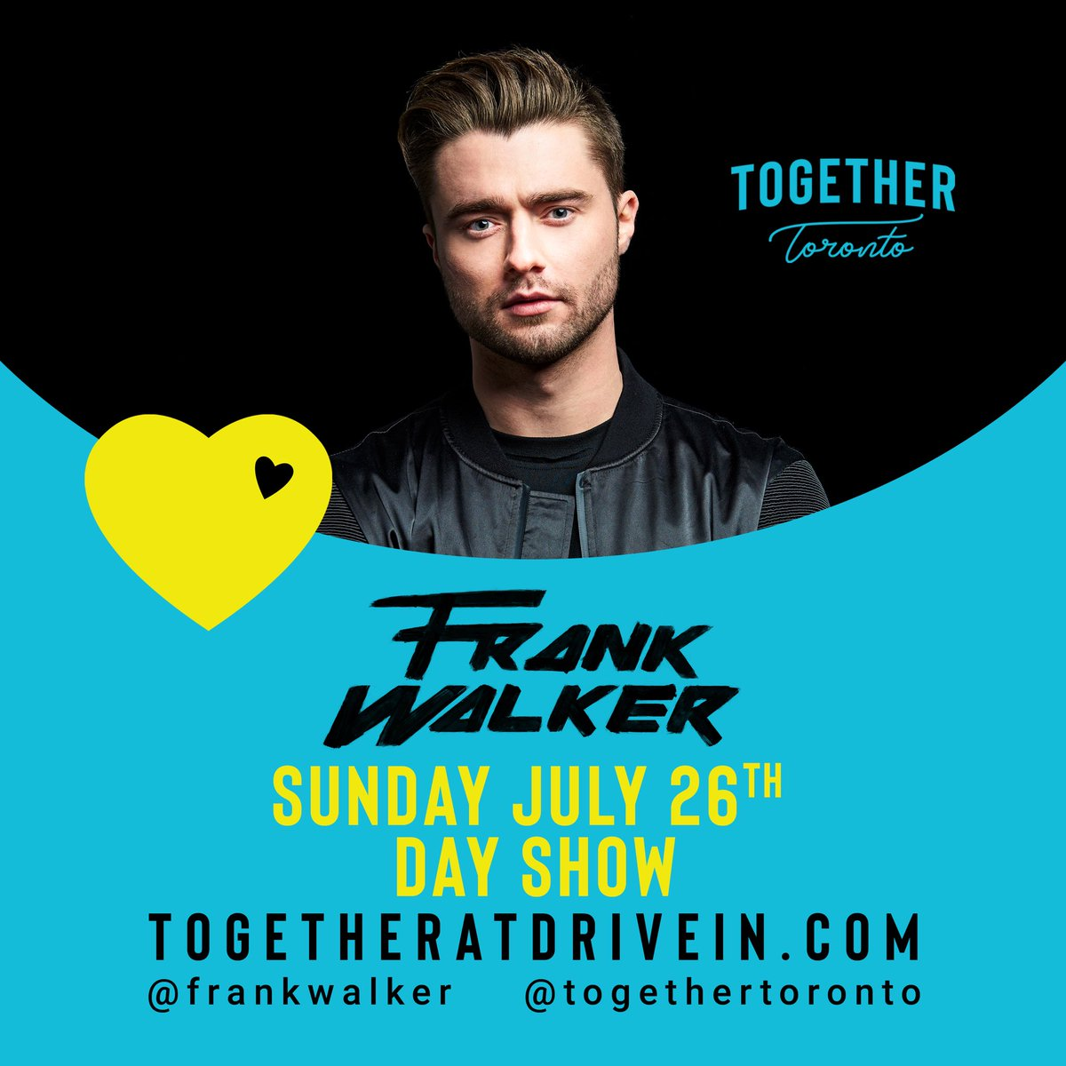 @TogetherToronto this Sunday! 4:45 - 5:45 at the Newmarket drive-in! Let's goo