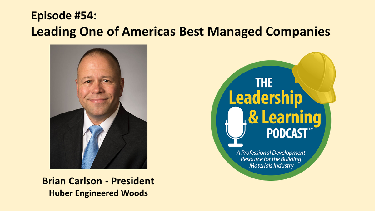 In this episode, I visit with Brian Carlson, President of @HuberWood, recently selected as one of the best managed companies in the United States by @DeloitteUS    Listen on your favorite podcast platform or on our website here: https://leadersedge360.com/leadership-and-learning-podcast/ …pic.twitter.com/YWYrGjAq5C