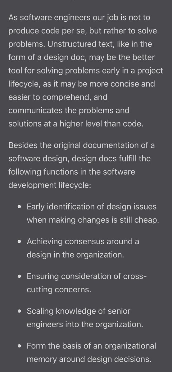 Gergely Orosz On Twitter A Good Overview Of How Software Design Docs Are Used And Written At Google Https T Co Zrvz360eph A Recommended Read At Uber We Have A Similar Approach Previously Called