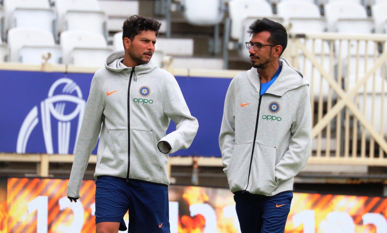 Indian spinners Kuldeep Yadav and Yuzi Chahal