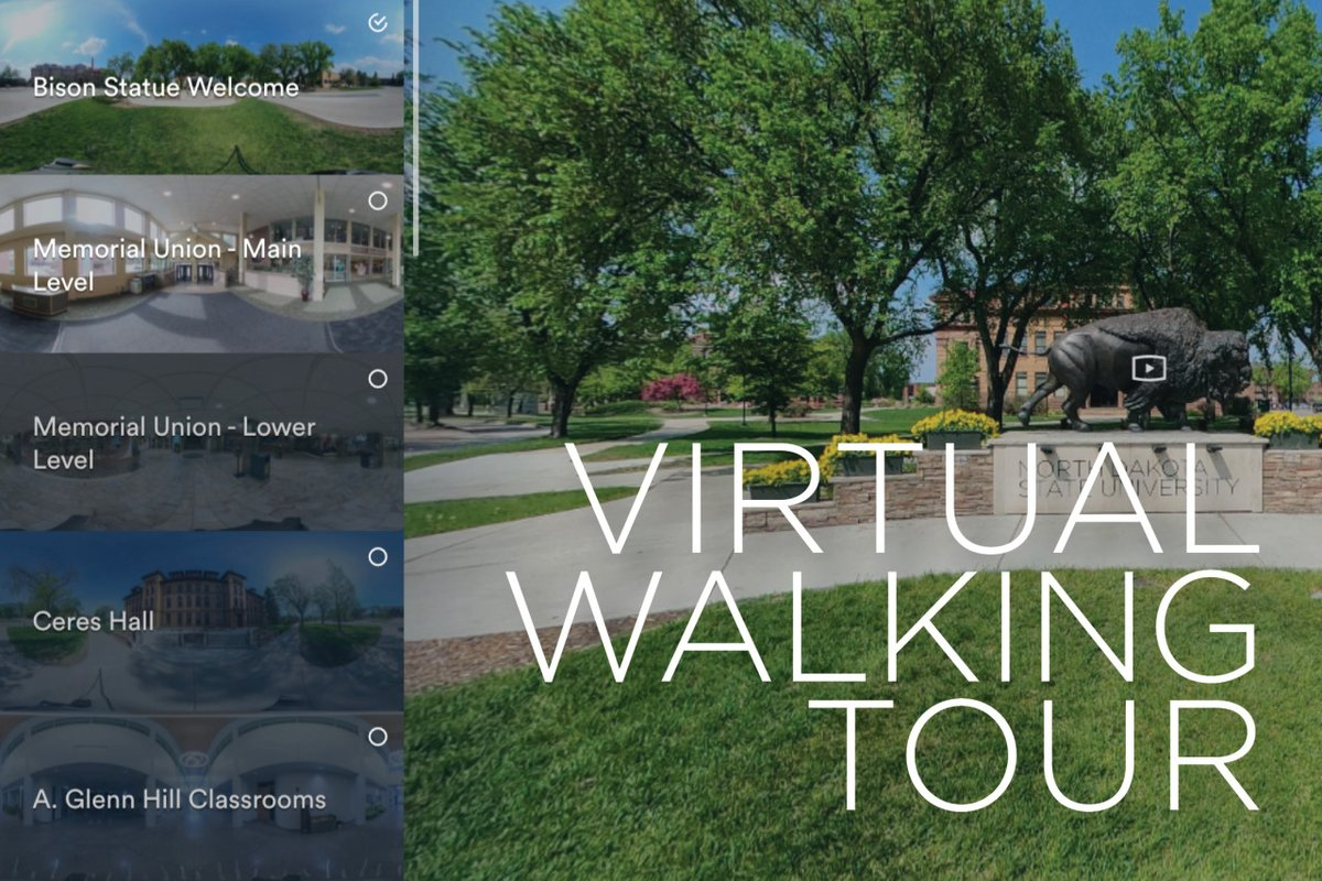 We are excited to share our campus with you again and in-person visits can now be scheduled at https://t.co/sm9uG479p6. We will continue to offer virtual visits so you can experience NDSU in multiple ways.  Visit https://t.co/sjMd0gxYpr to take a virtual campus... #ExperienceNDSU https://t.co/TYcwTPu5Hn