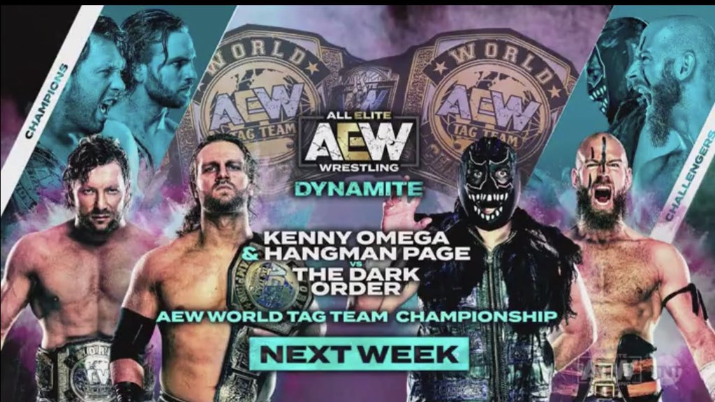 Two Title Matches And A Tornado Tag Match Announced For Next Week's AEW Dynamite