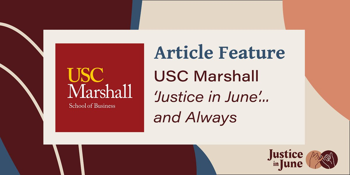 Check out our latest article from @USCMarshall. Thank you for amplifying this conversation and highlighting the importance of moving the progress forward not only now, but always! #FightOnforJustice @USC  https://t.co/Y78xRLJhbh https://t.co/VF6fGgU2zC