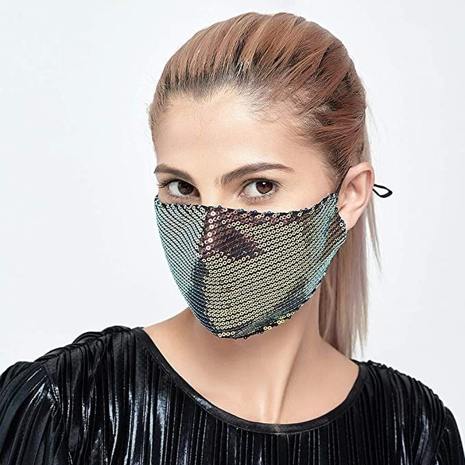 Cute Sequin Mask w/ 2 Filters, $7.49 w/ code GAMC9Y9N @ checkout