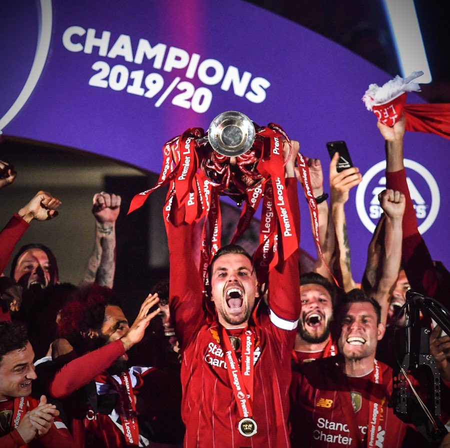 Anything is possible. Never stop believing. Premier League Champions 2019/20 🏆❤️ https://t.co/YdtIG7xc6I