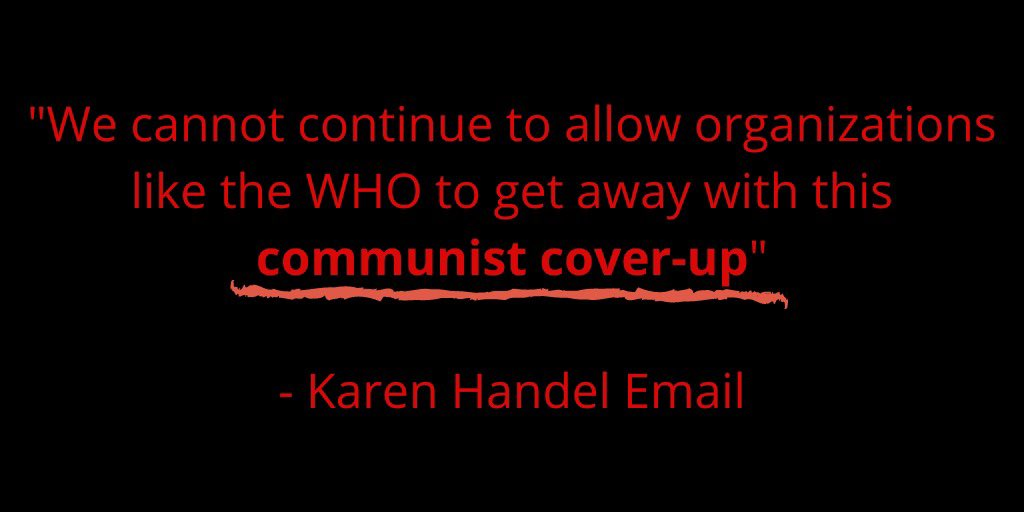 Lucy Mcbath On Twitter My Opponent Should Be Ashamed For Calling Who A Communist Cover Up In The Middle Of A Deadly Pandemic If You Believe In Science And Think Karen Handel Is
