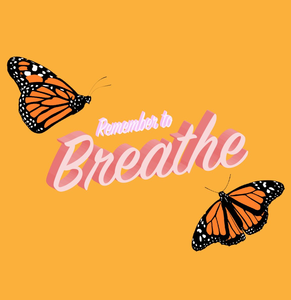 """Mid-week reminder to take a moment and breathe 🌬 Tip: Place your hand on your stomach and take a deep breath, you should feel your hand move out by about an inch. This """"belly breathing"""" is perfect to practice on your own and with your child! 🧡"""