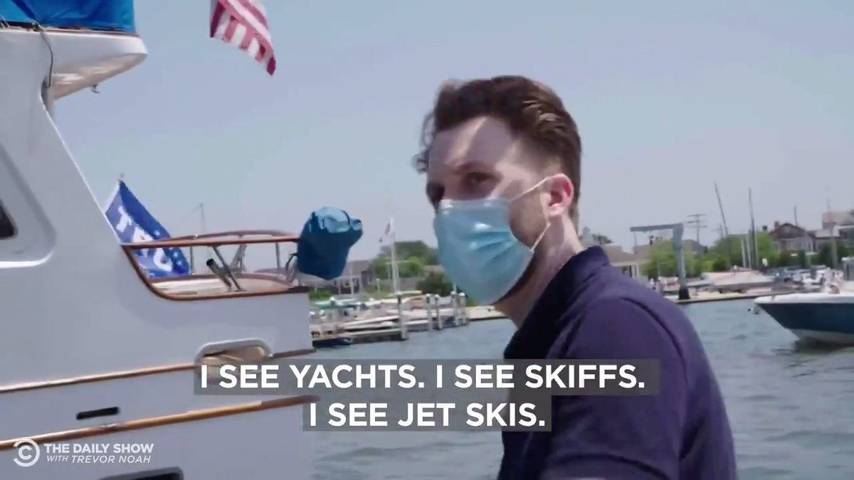 Went to a Trump Boat Rally. He speaks to the common man on common 70 foot yachts.