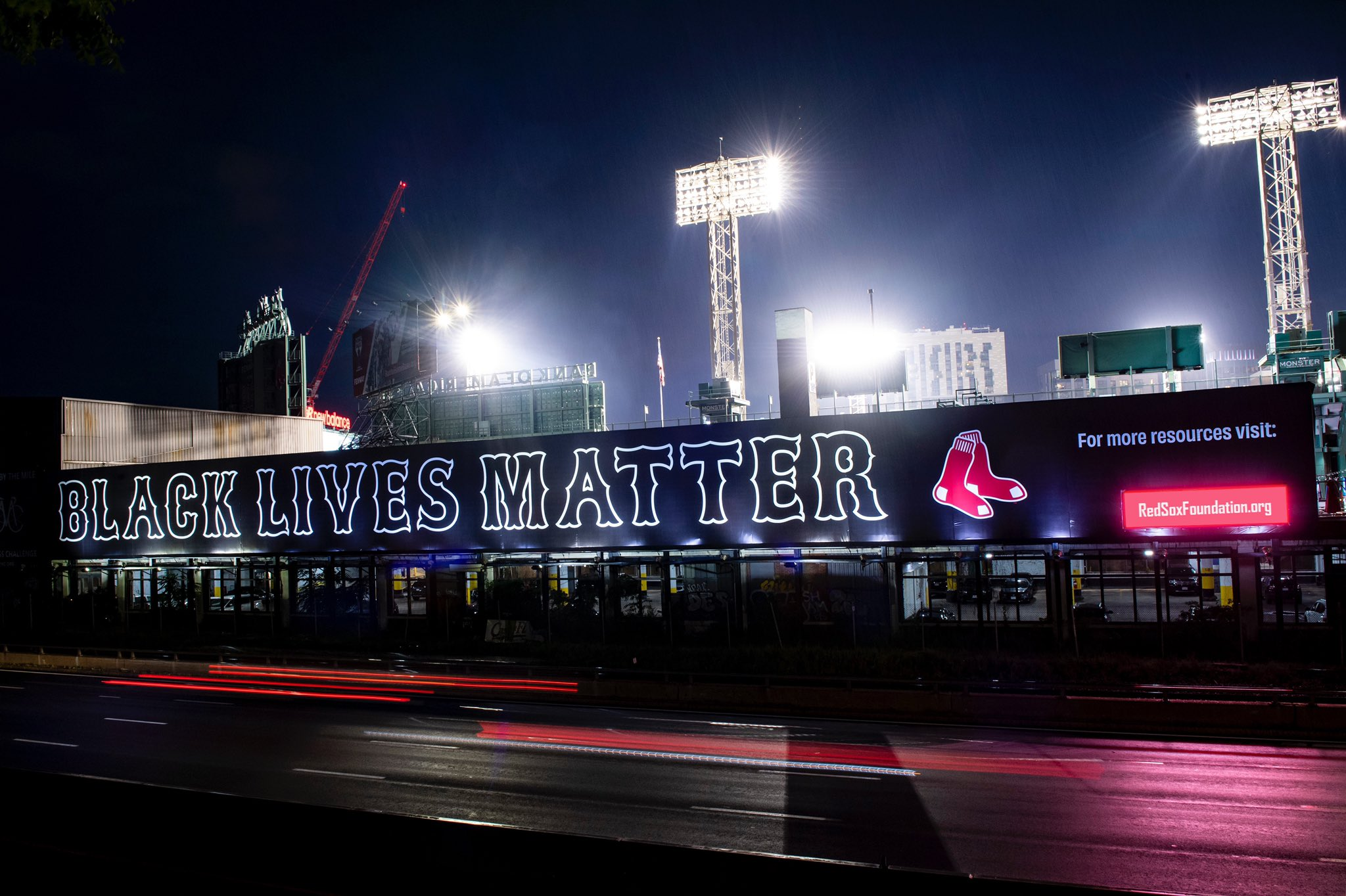 Red Sox unveil 250-foot Black Lives Matter billboard next to Fenway Park