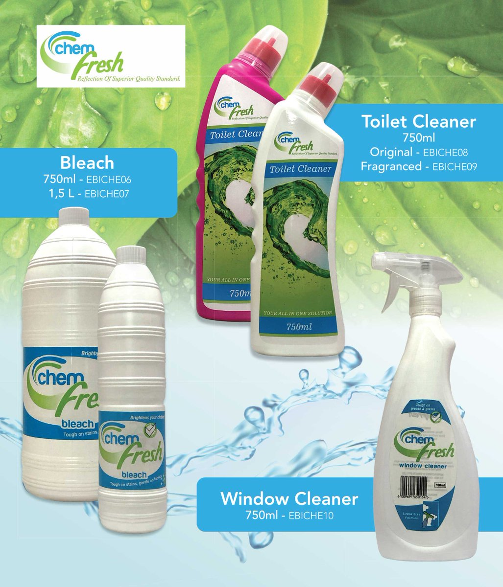 Bleach is a disinfectant and cleaner it does a fantastic job of killing germs and bacteria. it removes tough stains and whitens clothing.Toilet brown stains and bacteria can be stressful sometimes.Chem fresh toilet cleaner removes stains and kills bacterias. Chemfresh_SA https://t.co/5FLhrjIecm