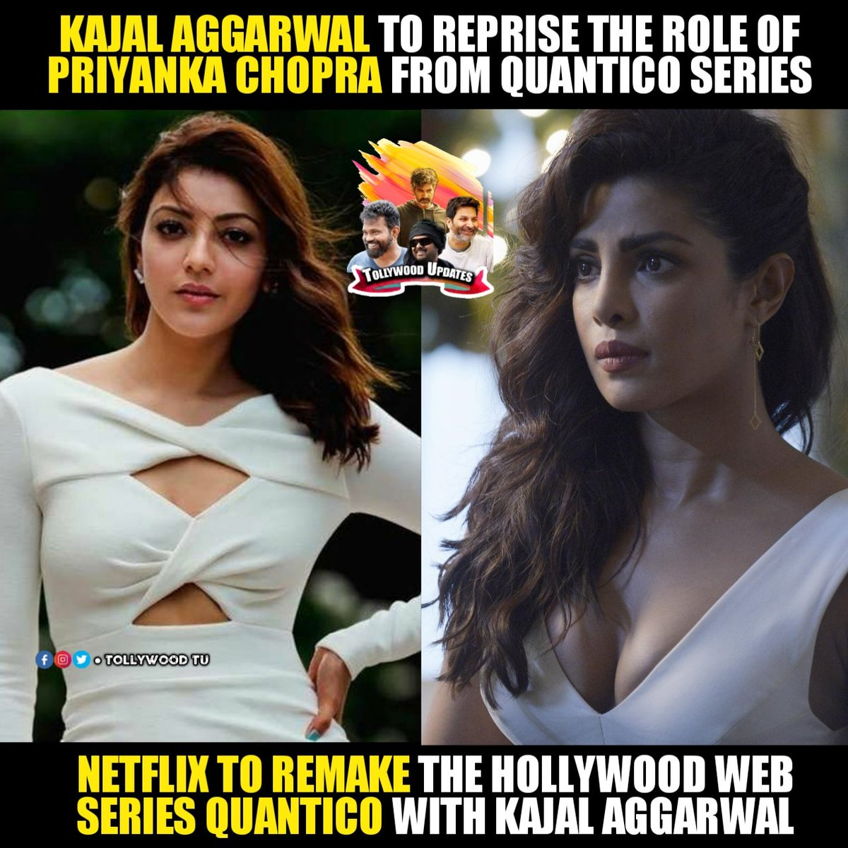 Tollywood Updates On Twitter Kajalaggarwal To Debut Into Webseries With The Remake Of Quantico Netflix To Produce And Release It On Their Own Ott Platform Https T Co Txzhqzlzyx