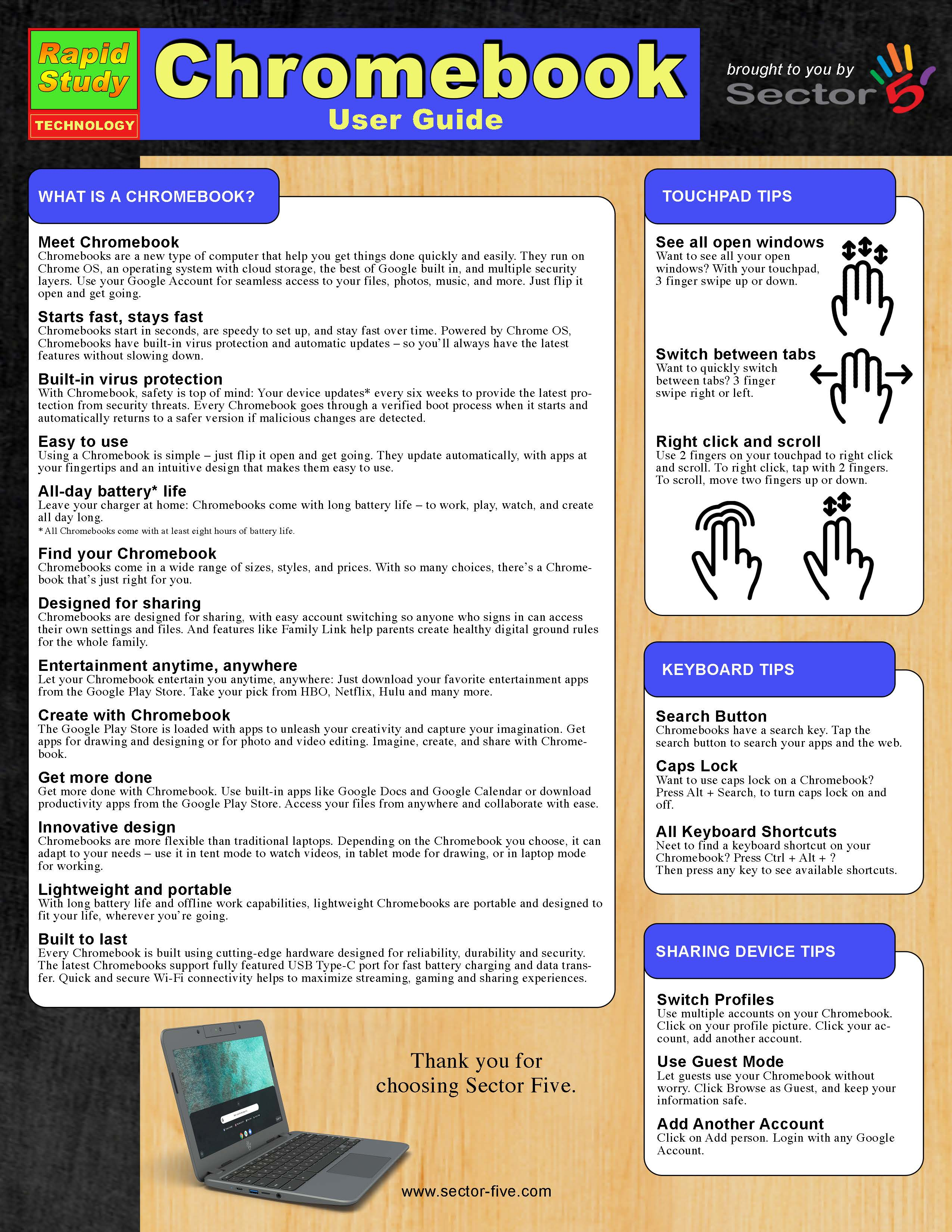 Sector 5 Chromebook User Guide