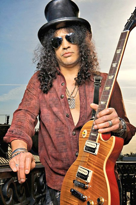 Happy Birthday to Guns N\ Roses lead guitarist Slash, born on this day in Hampstead, London in 1965.