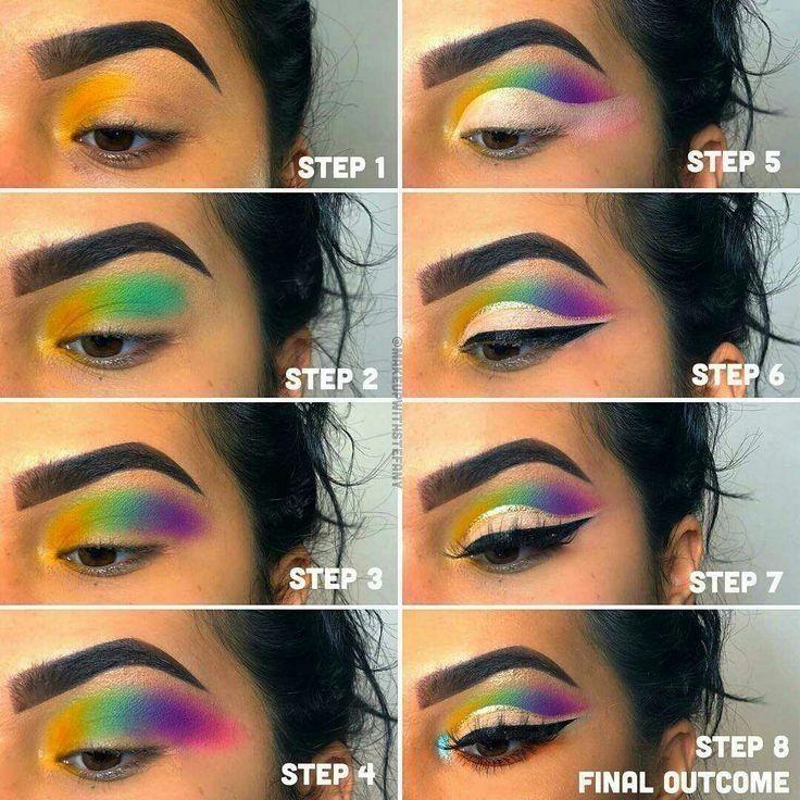 Rainbow Makeup Tutorial #makeuptutorial #makeuponfleek #eyelashes #cutcrease #makeupartist #halfcutcrease #eyeshadowlook #makeupofinstagram #facemakeup #makeuplooks #makeupideas #eyeshadowspic.twitter.com/6dk0k1nioL