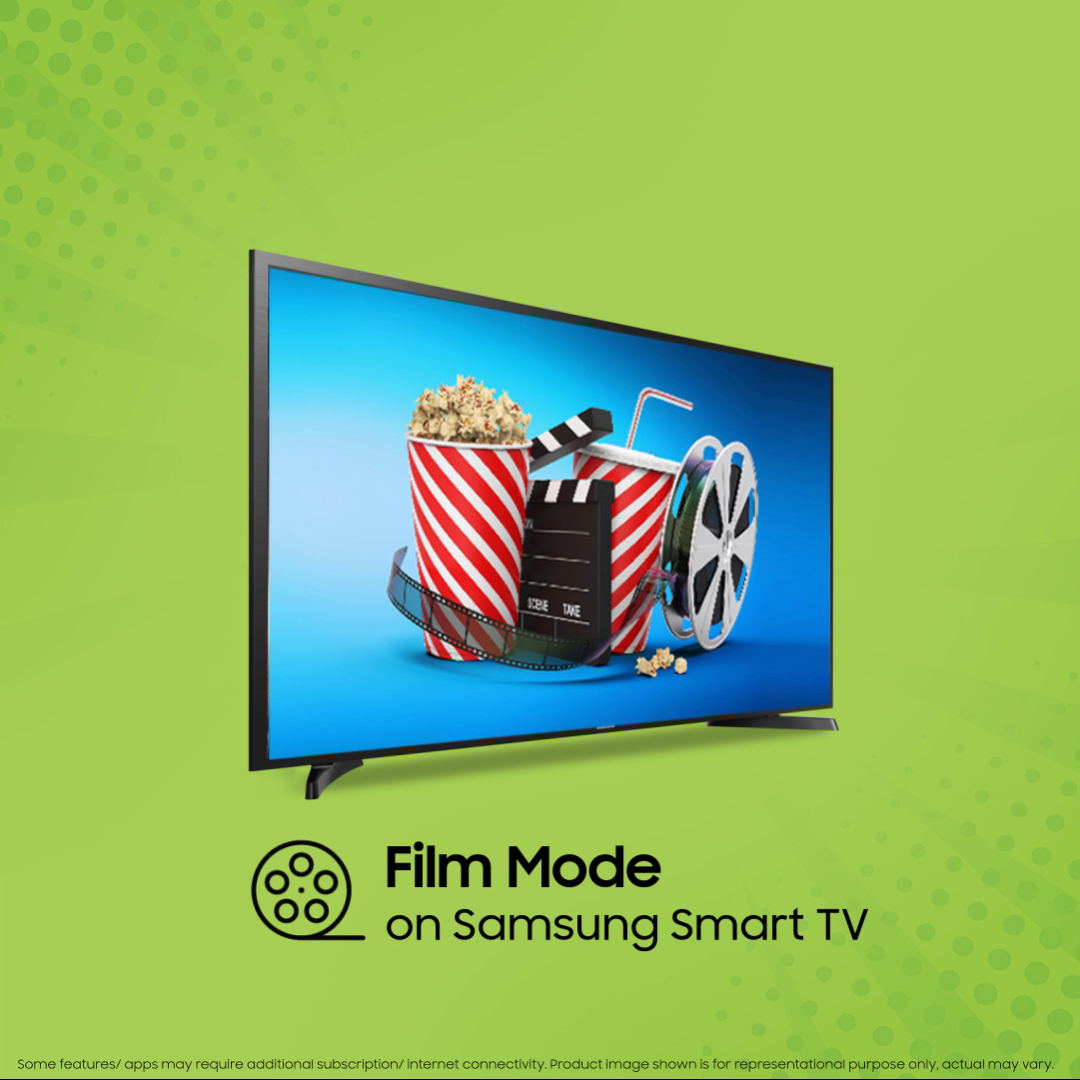 Enhance your movie watching experience with Film Mode on the #funbelievable Samsung Smart TV. This is a special mode that produces the most vivid colours and rich sounds in every movie you watch. Know more: https://t.co/trrPvrTuqo #Samsung https://t.co/9UbEMUPiwE