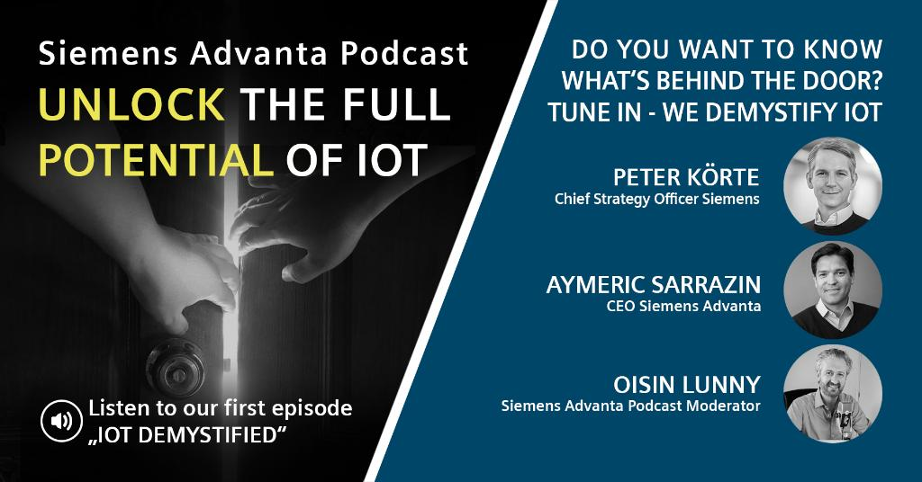 Many #myths revolve around #IoT - it's hard to see through them! Listen to our first podcast episode where Peter Körte, CSO Siemens, and Aymeric Sarrazin , CEO Siemens Advanta, reveal what's behind them and discuss how to overcome them: https://t.co/m6dbei7R0q  @oisinlunny  #IIoT https://t.co/Y5sjPa9luz