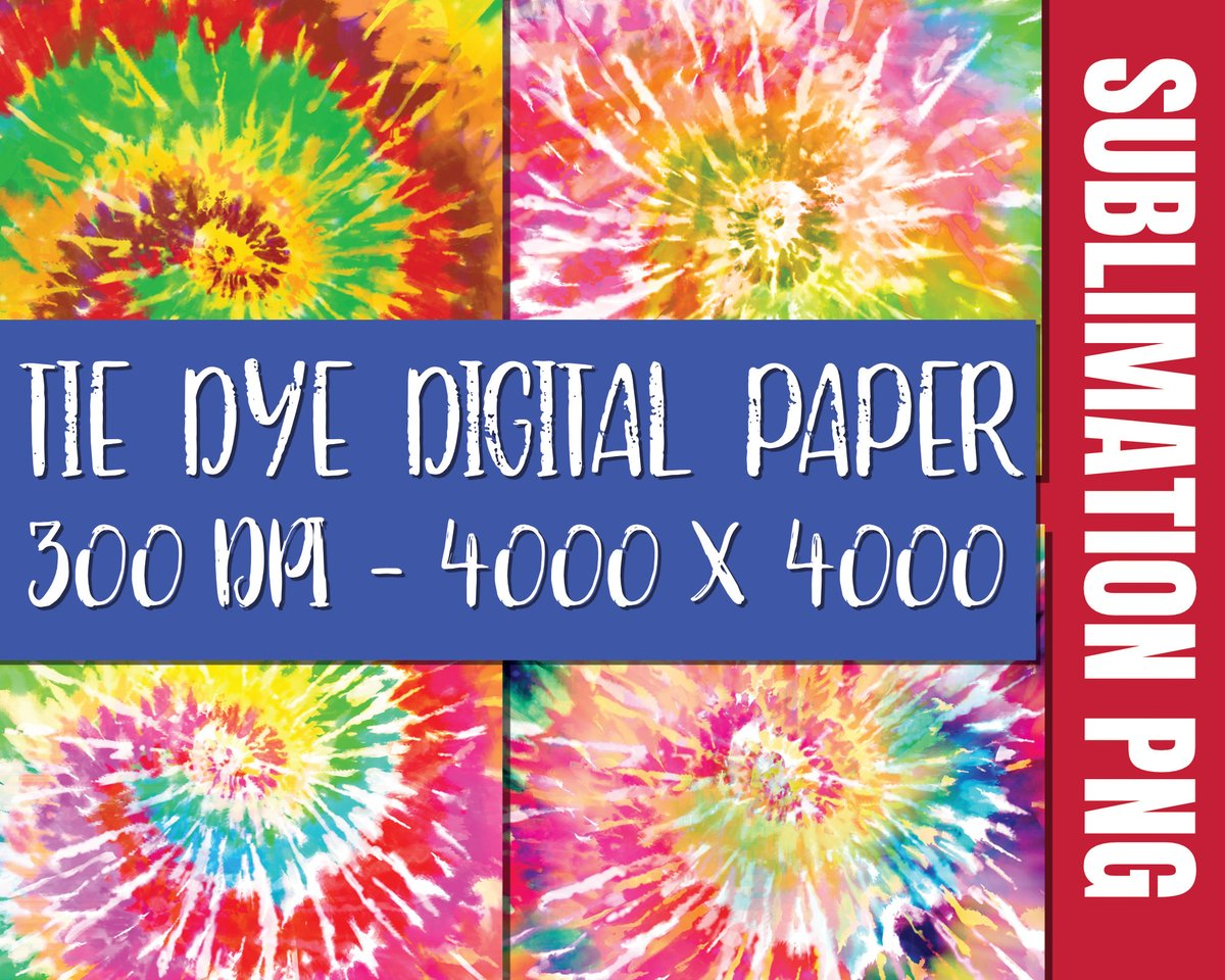 6 Tie Dye Sublimation background Digital Papers,Sublimation PNG File Bundle,Fill Pattern Background Element,Rainbow Cliparts,Commercial Use