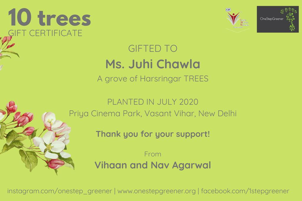 In a prime location of New Delhi ... 🌿🌿🌿... Children planting trees in my name ........ now I feel I am a success .....!!!! 🙏🙏🙏🙏😇😇😇Humbled ..!!!