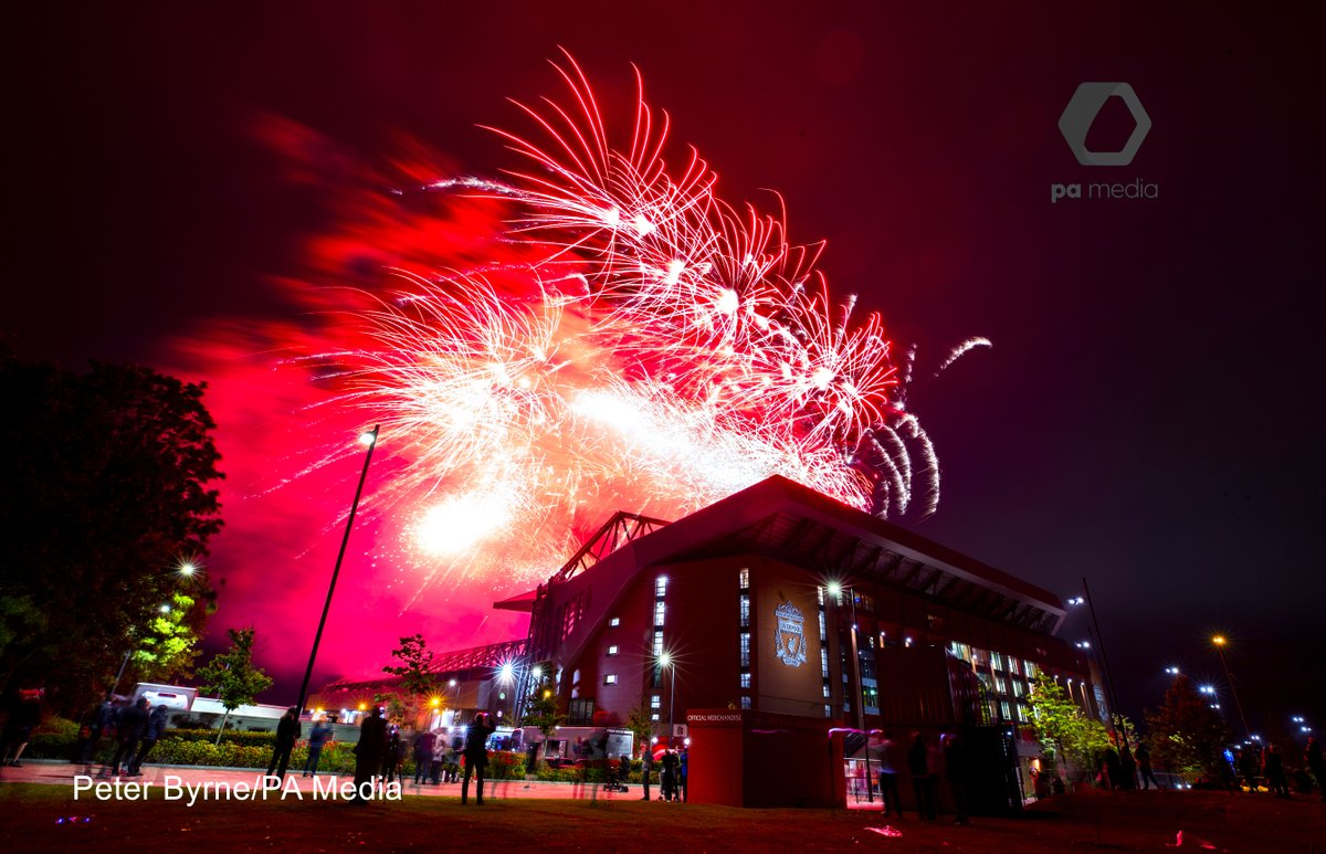 """Fireworks explode as Liverpool FC crowned ..."