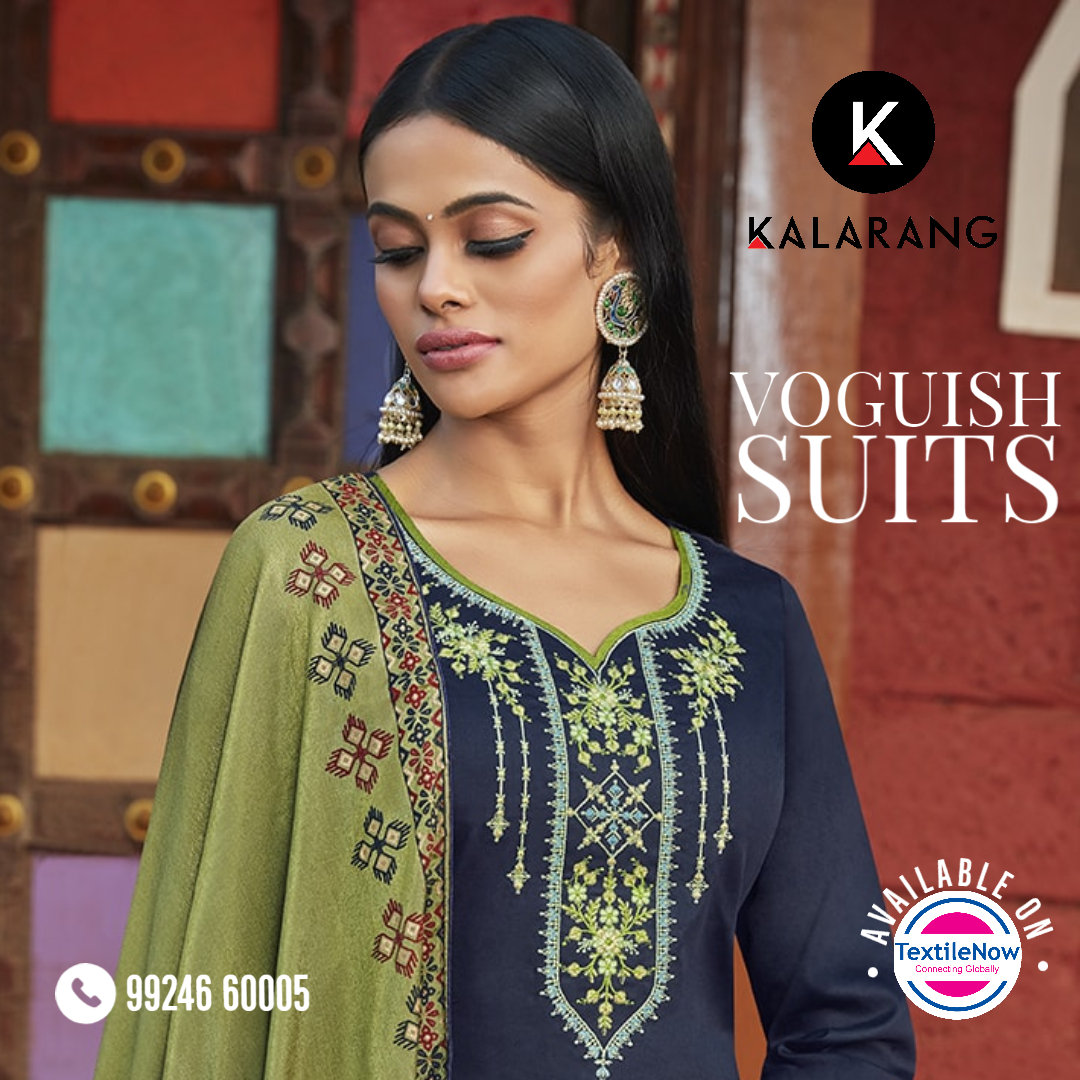 Kalarang's latest collection Butterfly.Beautiful Jam silk cotton suits with beautiful embroidery work and attractive foil print duppatta. #indianfashion #textilenow #surattextile #salwarkameez #ethnicwear #lookoftheday #festivecollection #fashion #fashionsuit #palazzosetpic.twitter.com/OAvXKHAKt2