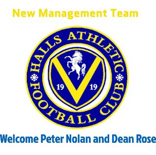 test Twitter Media - *Announcement* The club is delighted to announce ex Bromleians management Peter Nolan & Dean Rose take over the 1st team at Halls taking their first training session last night. The club are excited for the upcoming season under Pete & Deans management! #HAFC 💛💙💛💙 https://t.co/BSaNIWddD7