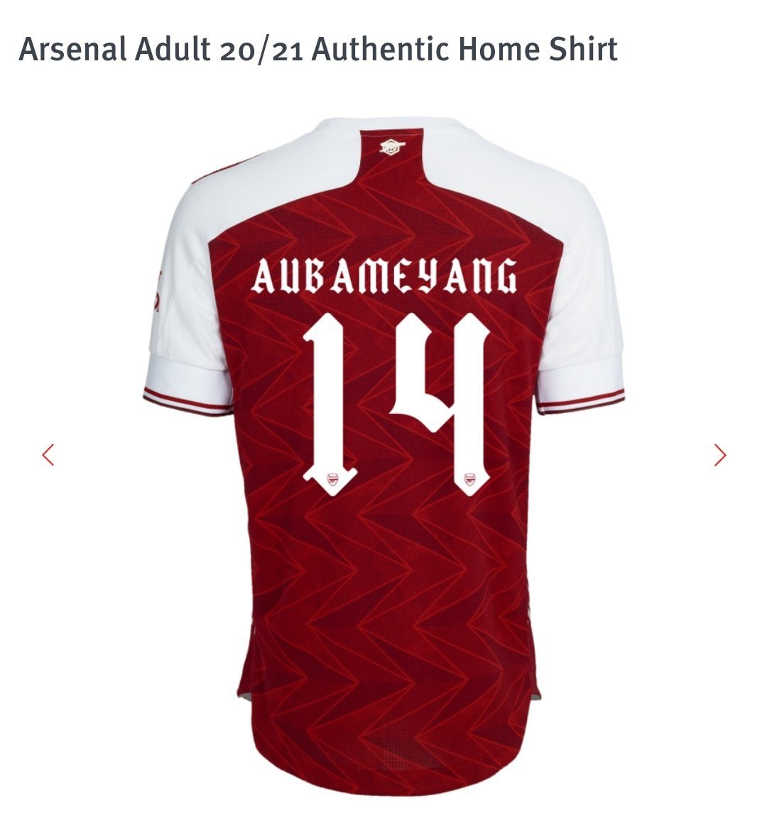 Afcstuff On Twitter Image Font On Arsenal S Home Kit For The 2020 21 Season To Be Used In Domestic Cup European Competitions Afc