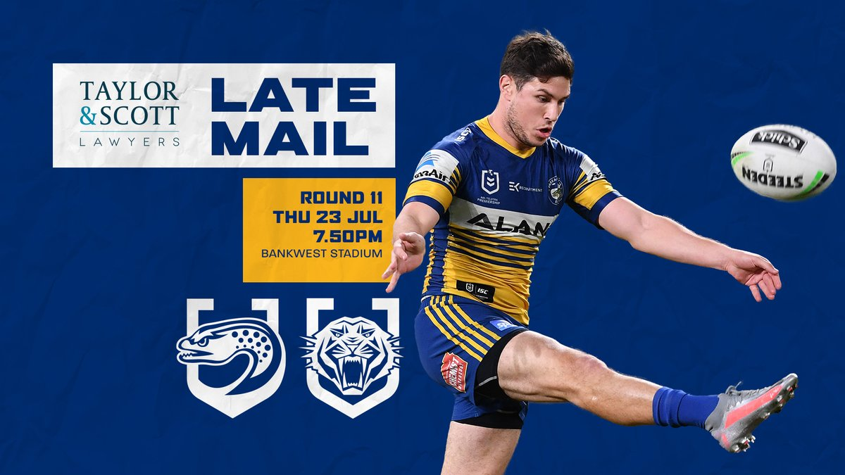 Parramatta Eels On Twitter Late Mail The Line Ups For Tonight S Clash Have Been Confirmed See The Teams Https T Co Aouiswbhht Parradise Https T Co Xyvcsij1m4