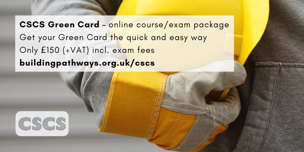 Want to get work on a construction site? Get your CSCS Labourers (Green) card the easy way! Study in your spare time with our accredited online training and exam package.  Click here to get started today! https://t.co/pqlBEJcD9r   #LoveConstruction #OnlineTraining #eLearning