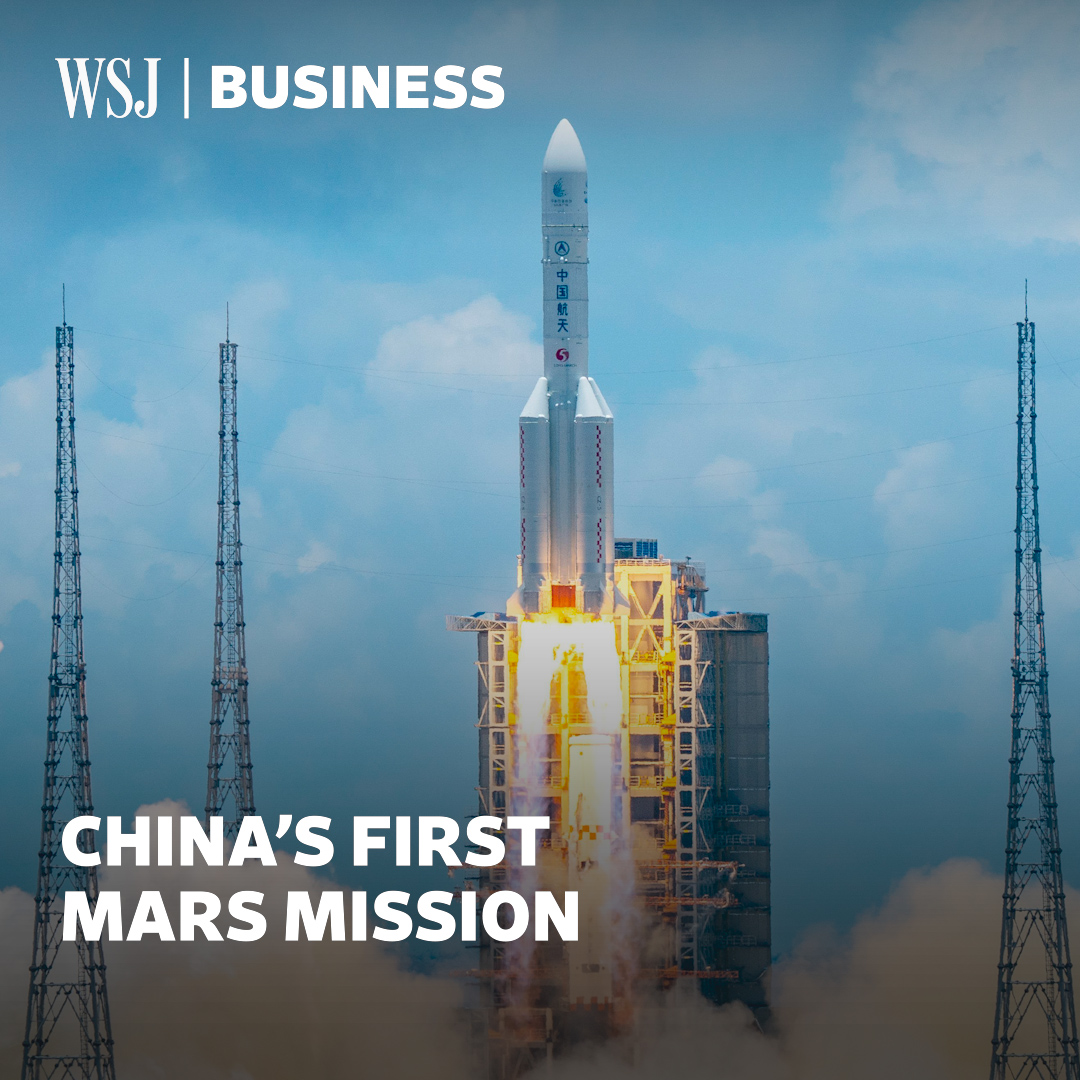 Image for the Tweet beginning: China launched its first mission