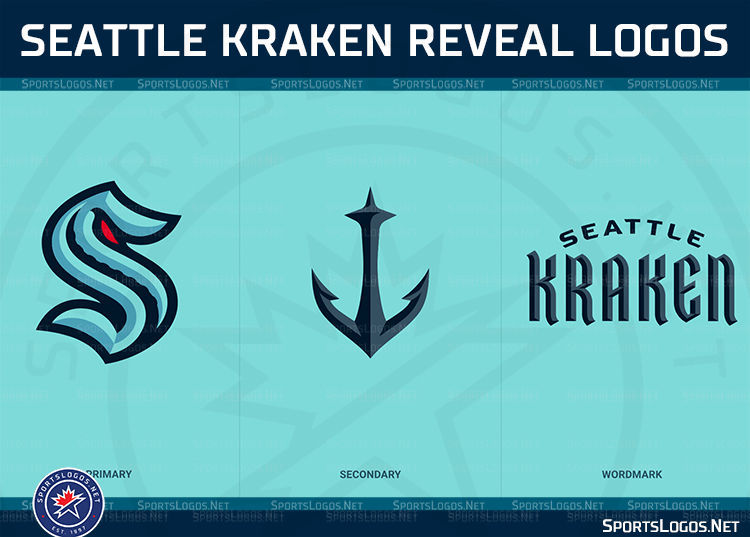Chris Creamer S Sportslogos Net On Twitter Seattle Kraken Announced As Name Of New Nhl Team Logos Released Here S Our Story So Far Will Update With More Information And Pics As They Are Released