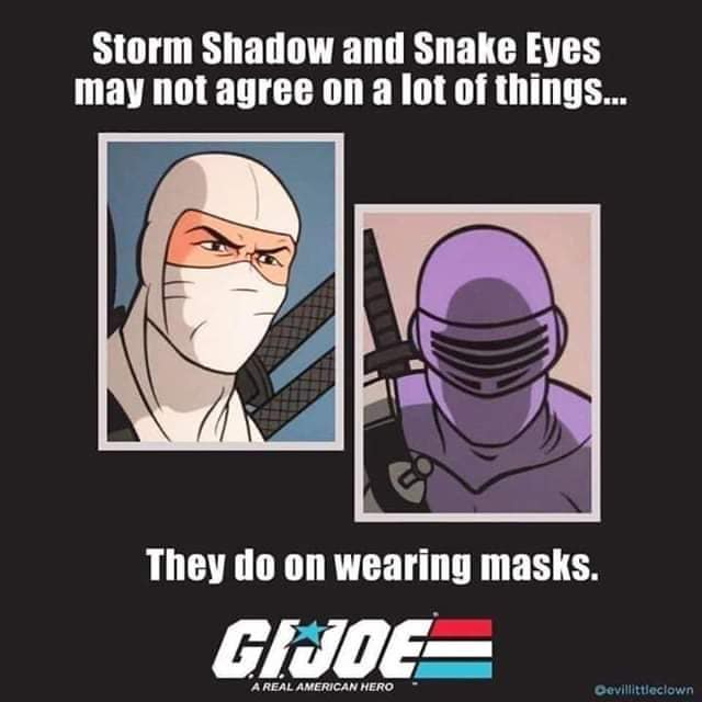 And knowing is half the battle!  #gijoe #wearamask #comicconathome #gijoeclassified #gijoeretroseries #comicconrevolution #comiccon https://t.co/c3auidqNEW