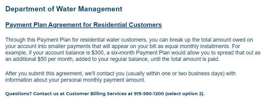 durham nc water bill