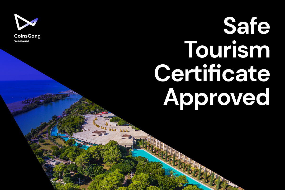 Gloria Hotels&Resort - our partner and venue of the upcoming #CoinsGang Weekend event, now received a Safe Tourism Certificate, granted within the scope of the health and hygiene criteria set by the Ministry of Culture and Tourism and the Ministry of Health. https://t.co/jTqX0whIfx